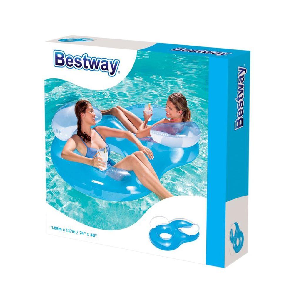 Bestway Luftmatratze Lounge Schwimmsessel Wasserliege Badeinsel Schwimmliege  – Bild 3