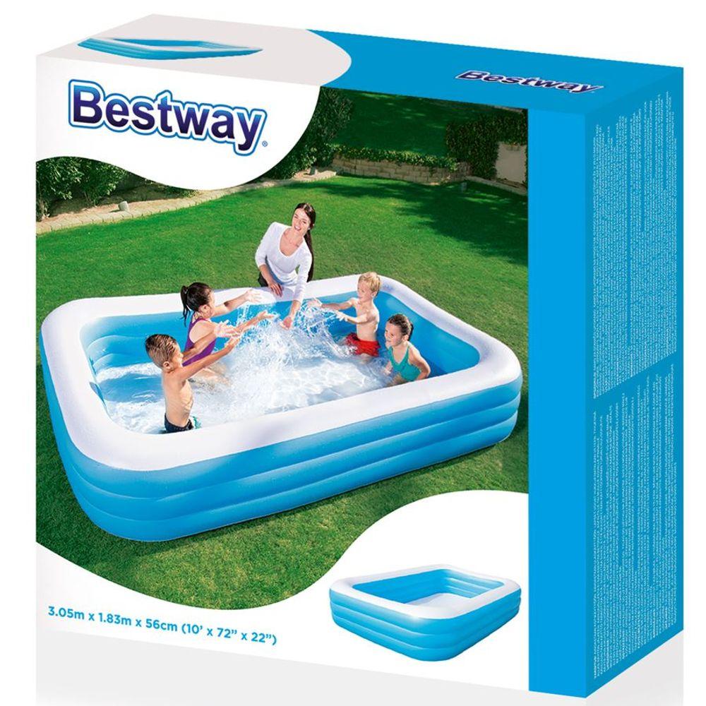 Bestway Family Pool blau Swimmingpool Kinderpool Schwimmbecken Planschbecken – Bild 3