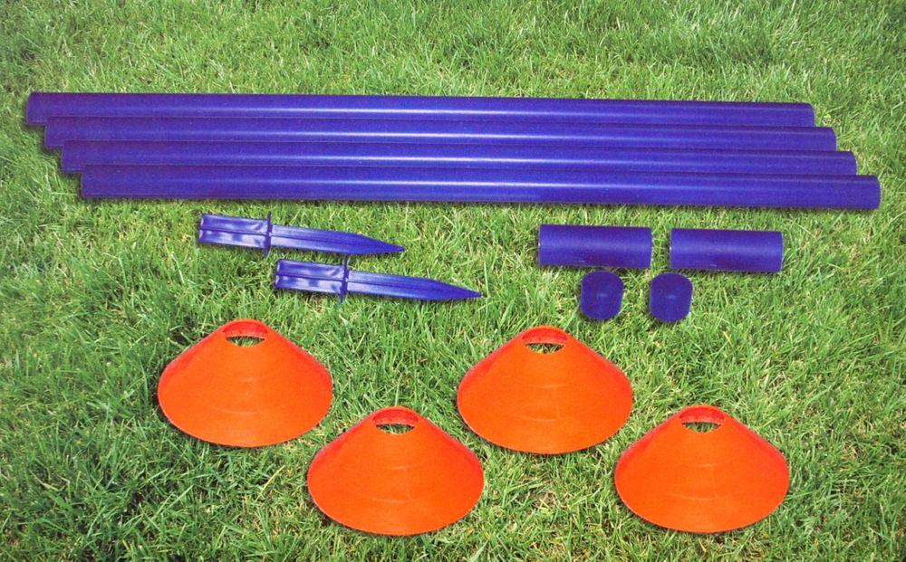 Fußballtraining-Set Trainingsgerät Koordination Markierungshütchen Fussball  – Bild 2