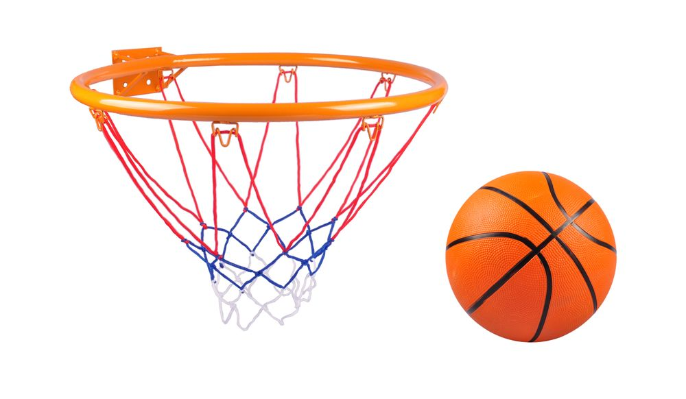 Basketball-Set Basketballkorb Basketballnetz Basketballring Ballpumpe Ball