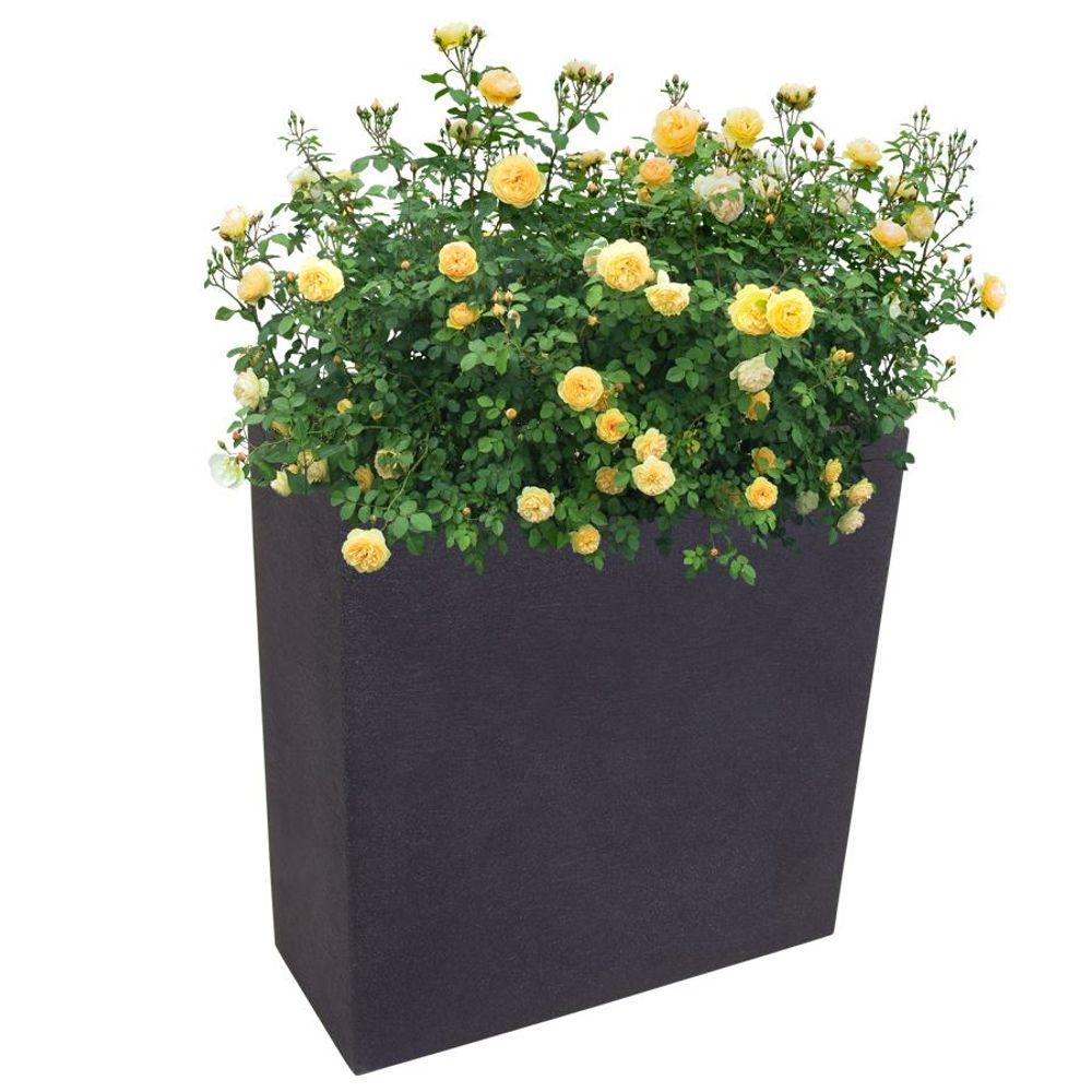 Pflanzkasten anthrazit Blumenkasten Hochbeet Terrasse Sichtschutz 59,5x26,5cm  – Bild 1