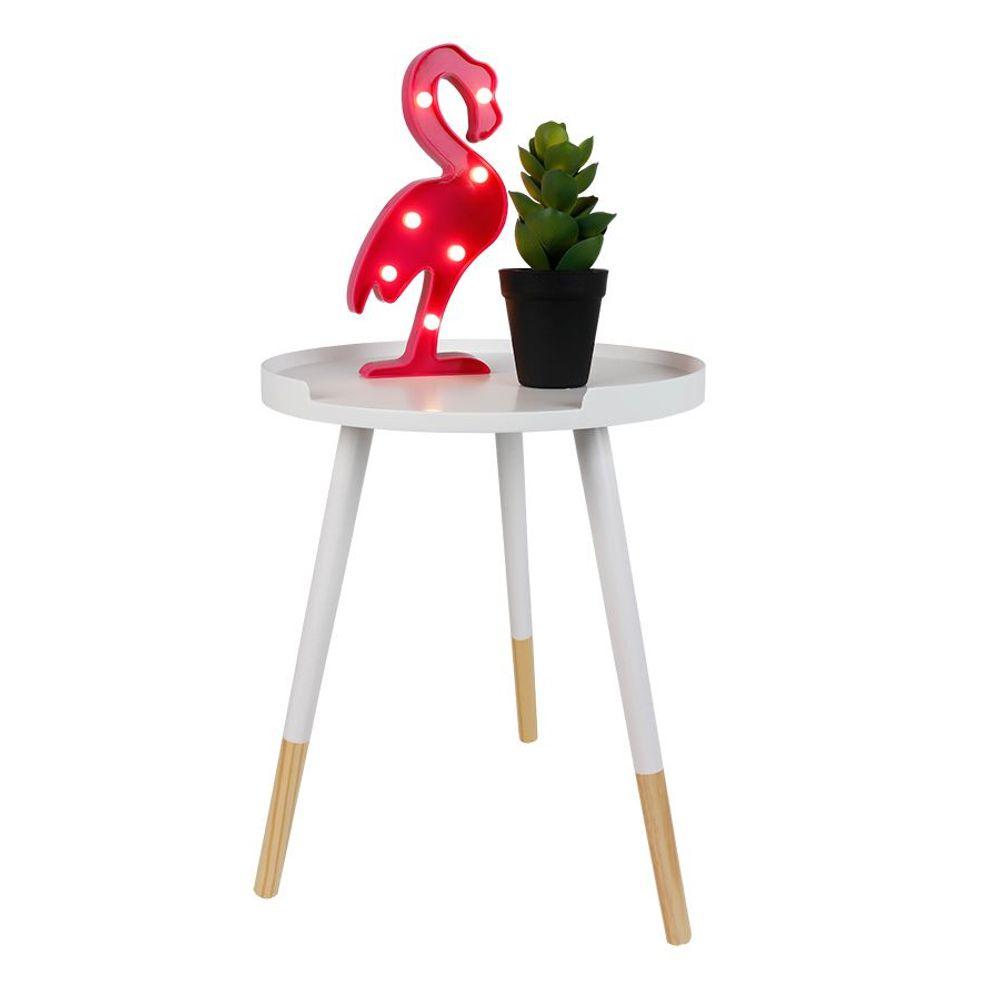 LED Flamingo 30cm pink Partydeko Wanddeko Dekofigur Vogel Dekolicht warmweiß  – Bild 5