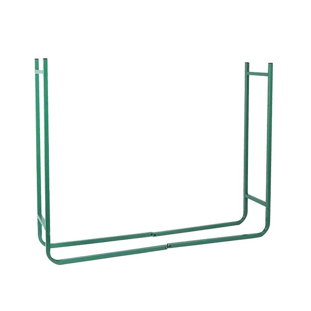 Metall Kaminholzregal Stapelhilfe Brennholzregal Holzständer Ablage Brennholz – Bild 3