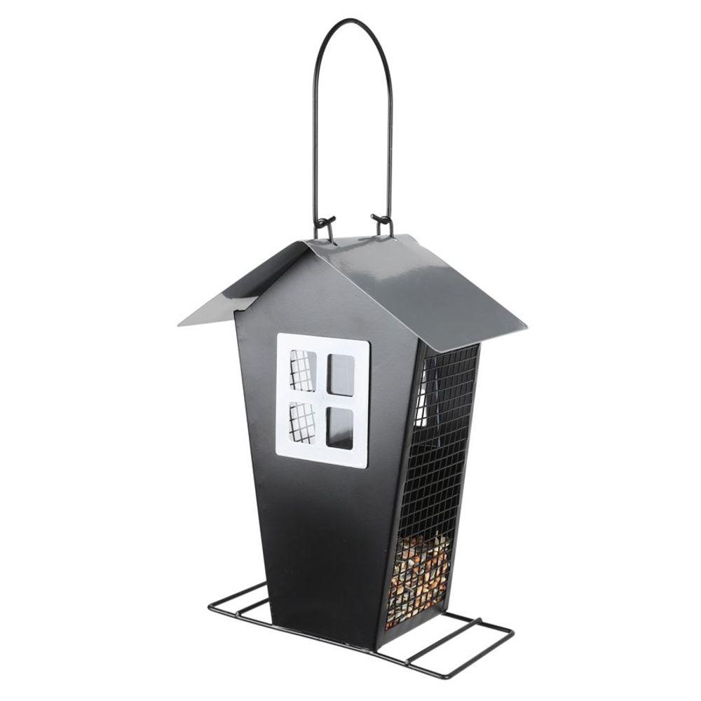 Metall Vogelfutterhaus Vogelfutterspender Futterstation Futterspender Futterhaus – Bild 3