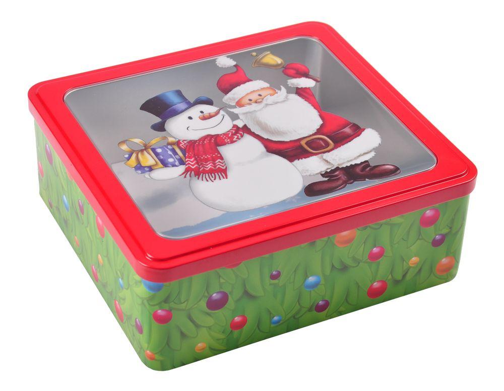 Weihnachts-Metalldose Plätzchendose Gebäckdose Keksdose Vorratsdose Dekodose  – Bild 1