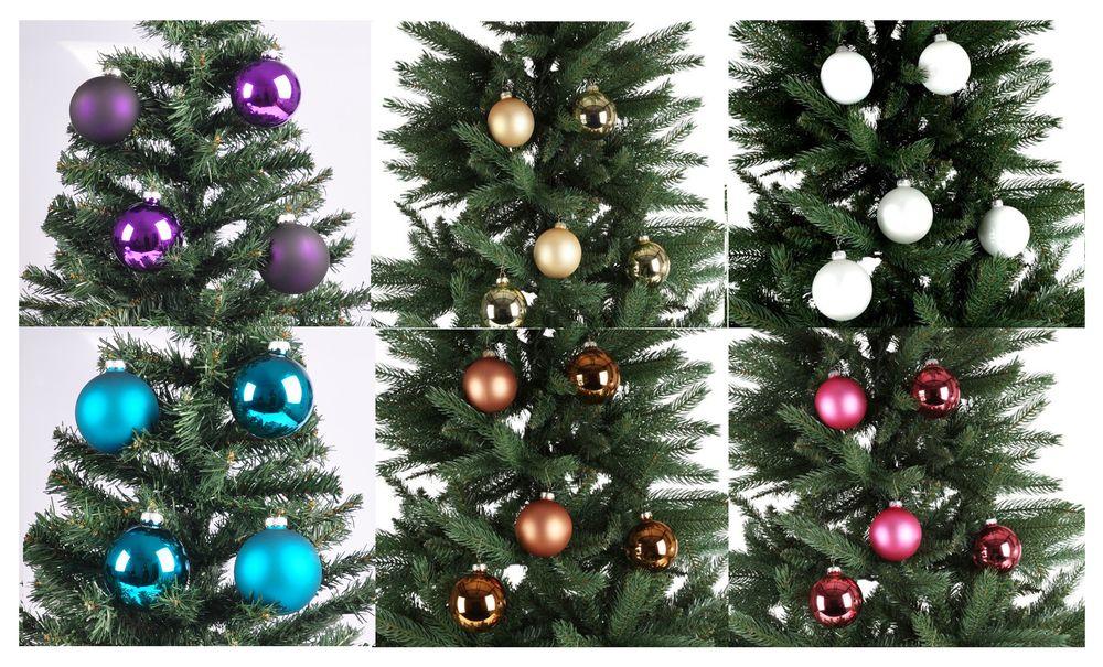 Weihnachtsbaumkugeln 8er-Set 7,5cm Christbaumkugeln Baumschmuck Weihnachtsdeko – Bild 1