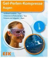 Gelkompresse für Augen 2er-Set Kühlkompresse Wärmekompresse Kühlkissen Perlen  001