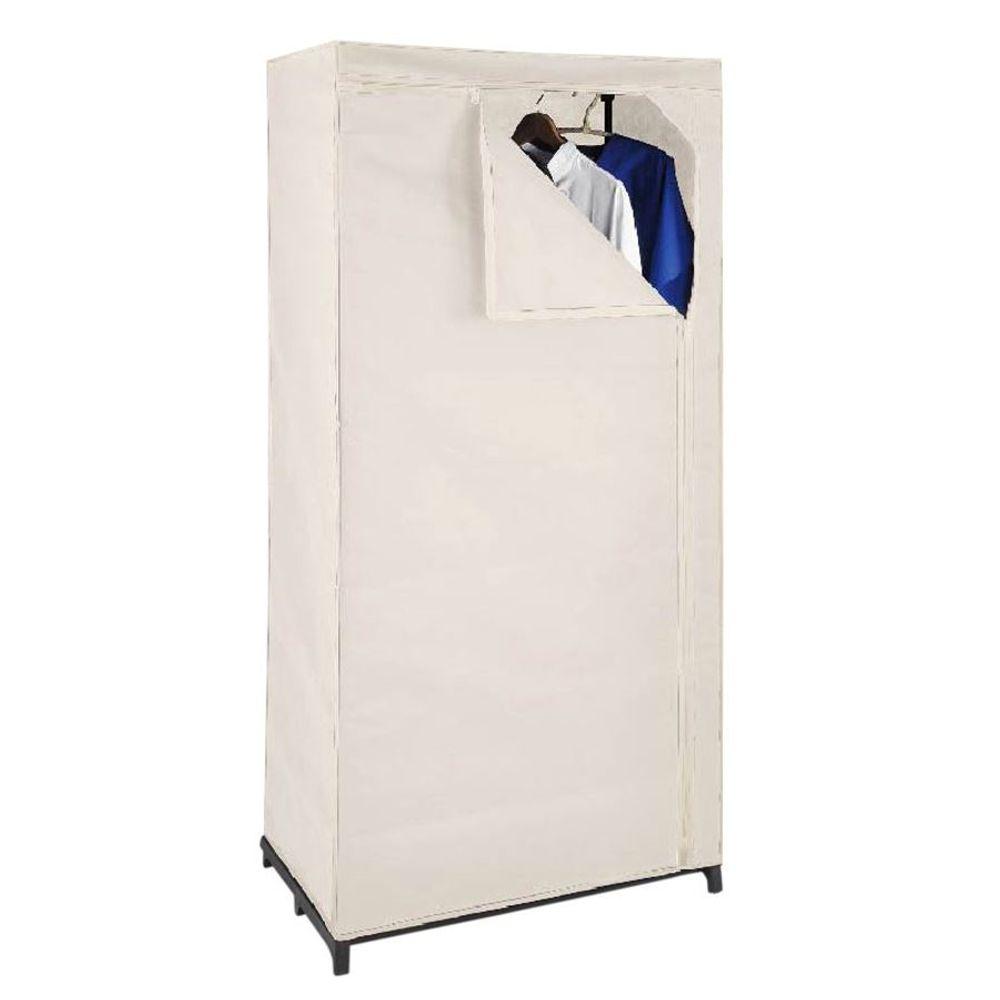 Textil Kleiderschrank eierschale Stoffschrank Faltschrank Schrank Garderobe  – Bild 1