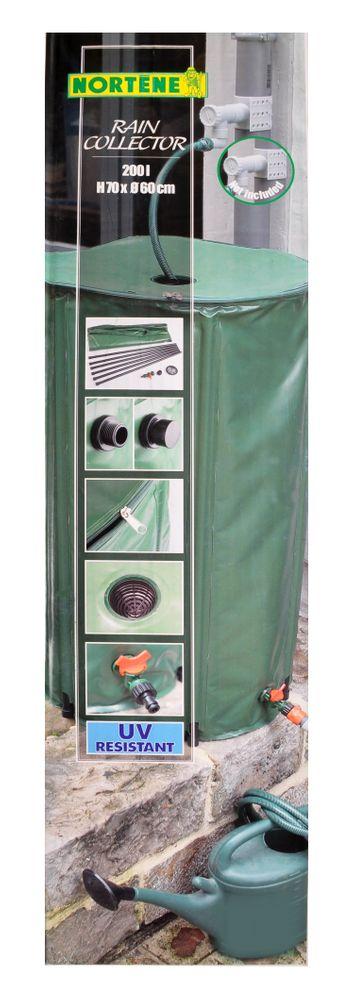 Regentonne 200L faltbar Wassertonne Wassertank Regenfass Wasserbehälter Tonne – Bild 2