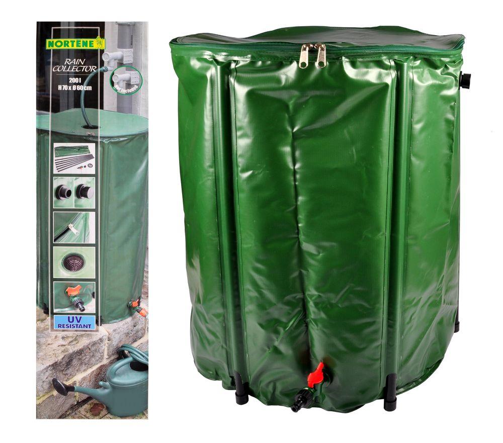 Regentonne 200L faltbar Wassertonne Wassertank Regenfass Wasserbehälter Tonne – Bild 1