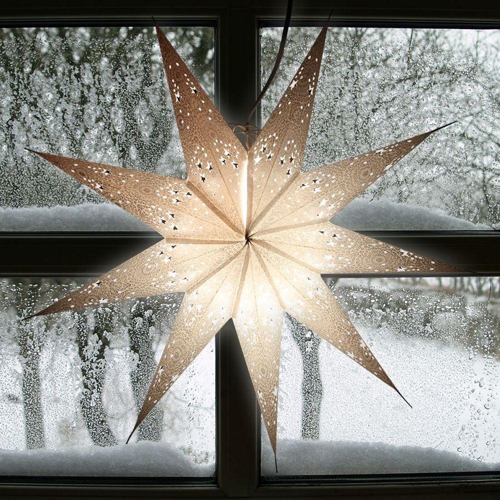 Weihnachtsstern 60cm Weihnachtsdeko Adventstern Leuchtstern Fensterdeko Stern – Bild 1