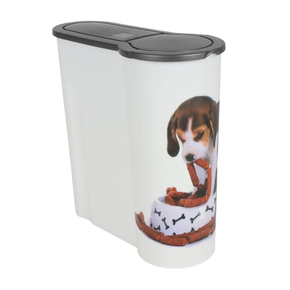 Hunde Futterdose 4L Aufbewahrungsdose Hundefutter Trockenfutter Vorratsdose – Bild 1