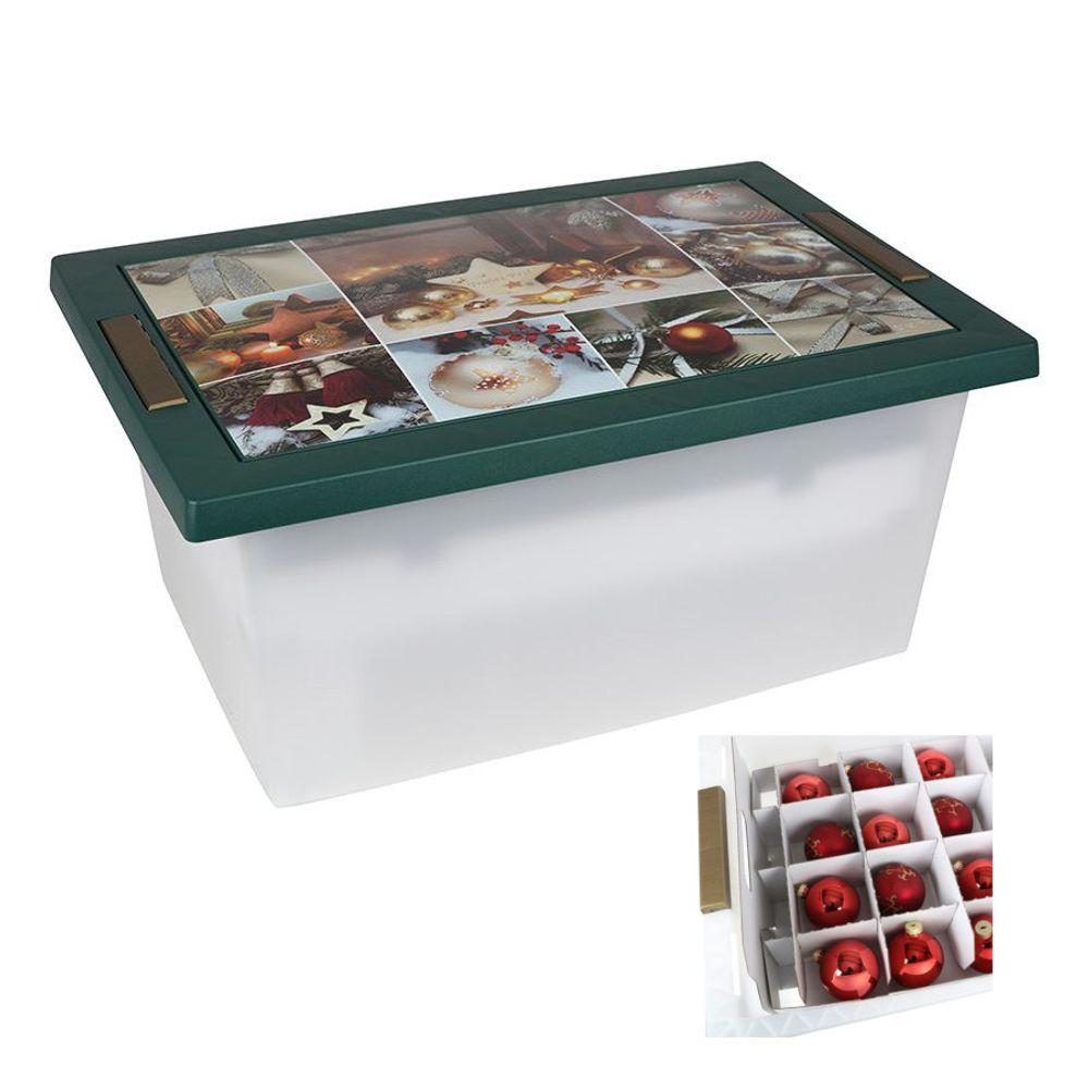 Weihnachtsbox Weihnachtskugel Aufbewahrungskiste Storage Box Organizer Rollenbox – Bild 1