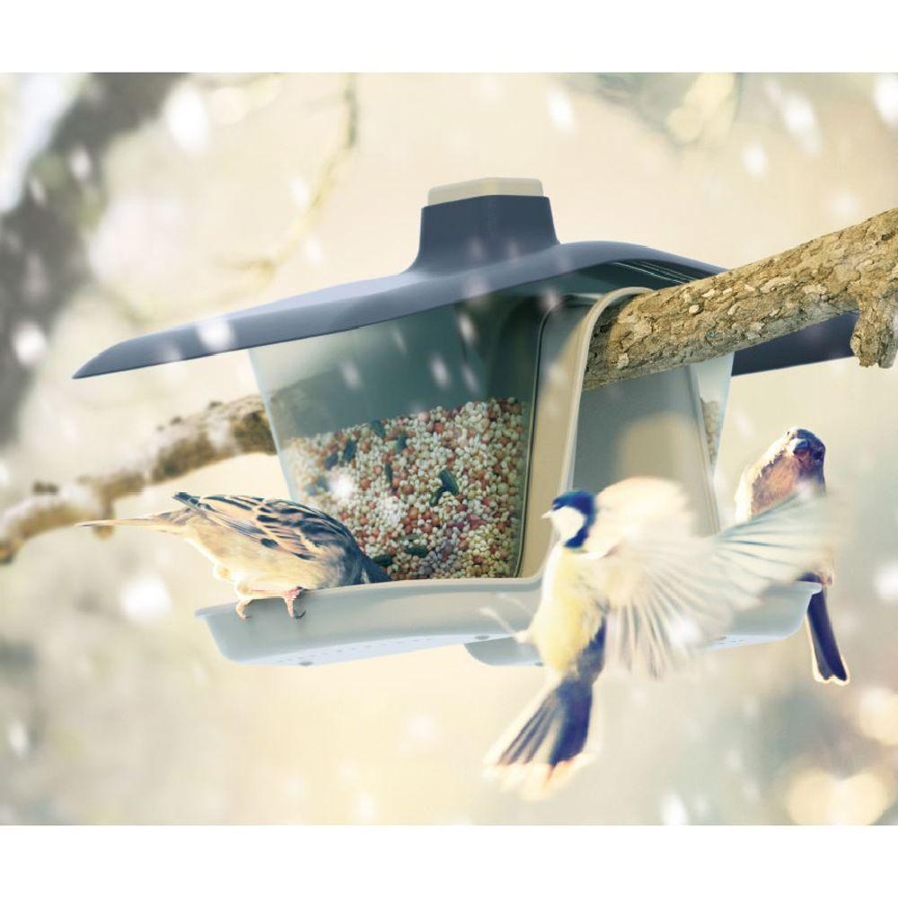 Vogelfutterstation Vogelfutterspender Futterhaus Futterspender Futterstation – Bild 1