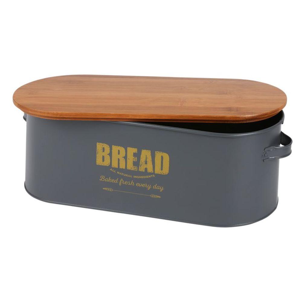 Brotkasten Bread Brotkorb Brotbehälter Brotkiste Aufbewahrungsbox 46x16x18cm – Bild 1
