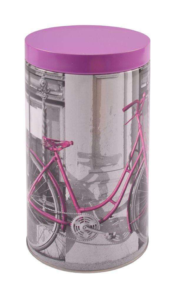 Metall Kaffeedose Fahrrad Kaffeebehälter Vorratsdose Teedose Blechdose Dekodose – Bild 1