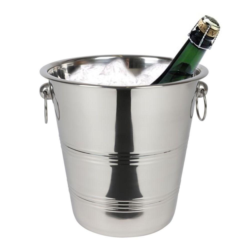 Edelstahl Sektkühler Sektkübel Weinkühler Flaschenkühler Eiseimer Champagner – Bild 1