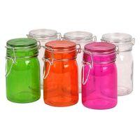 Drahtbügelgläser 6er-Set 250ml Vorratsgläser Einweckgläser Marmeladengläser Glas 001