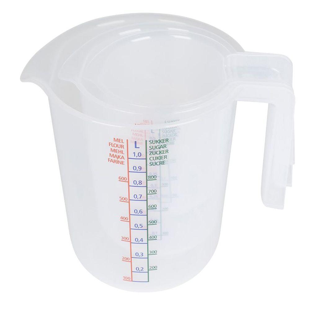 Meßbecher-Set 3tlg. Küchenhelfer Messbecher Meßkanne Kunststoff 250/500/1000ml – Bild 7