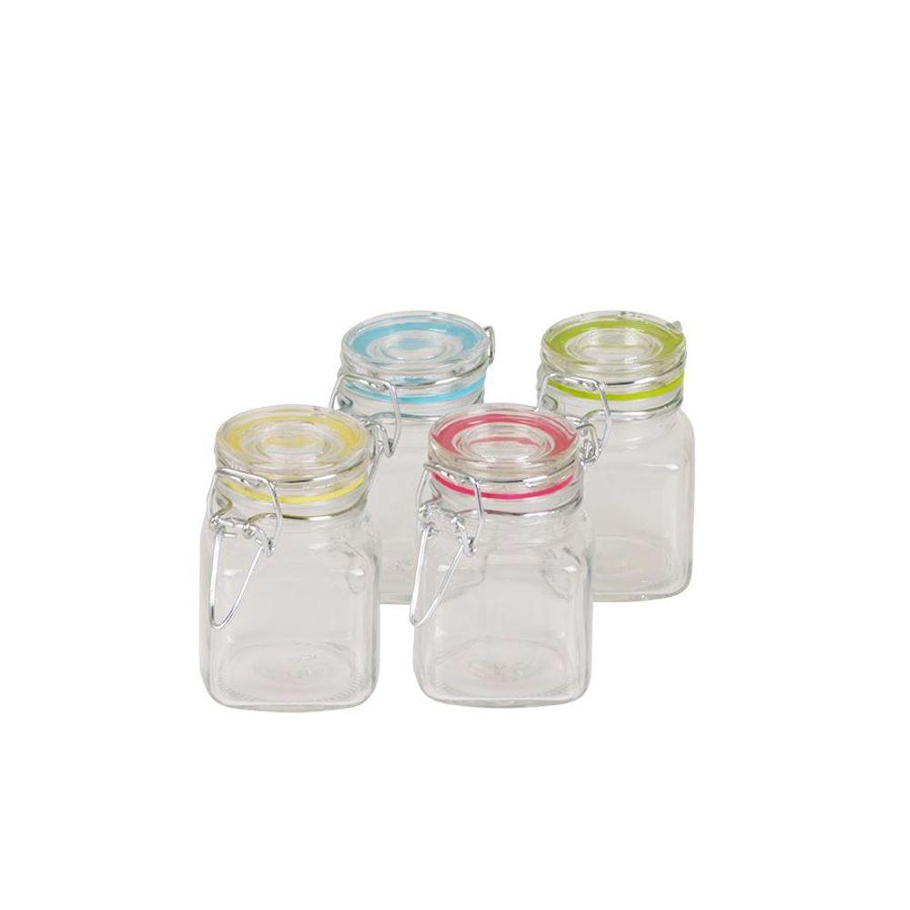 Gewürzgläser 4er-Set Vorratsgläser Drahtbügelgläser Marmeladenglas Einmachgläser – Bild 3