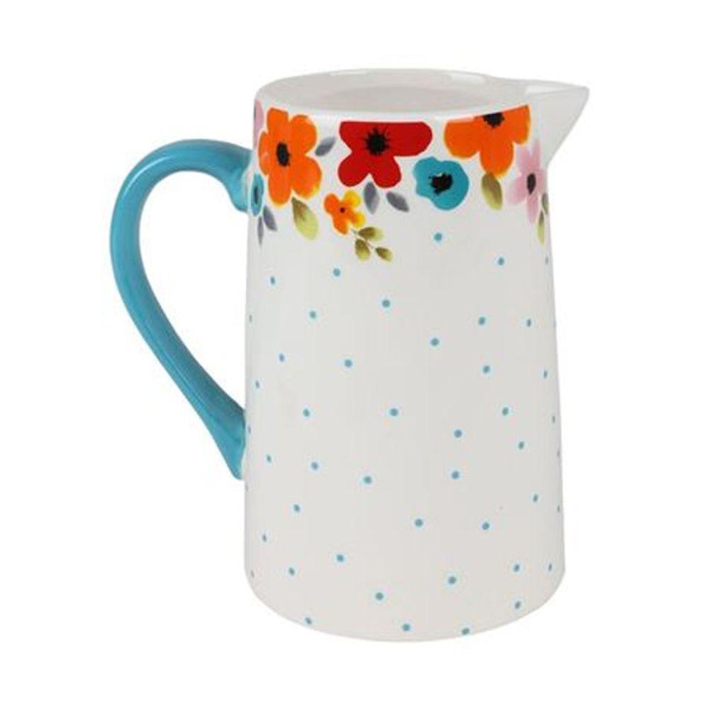 Keramik Krug 1,4L Wasserkrug Saftkrug Milchkanne Saftkanne Wasserkanne Deko Vase
