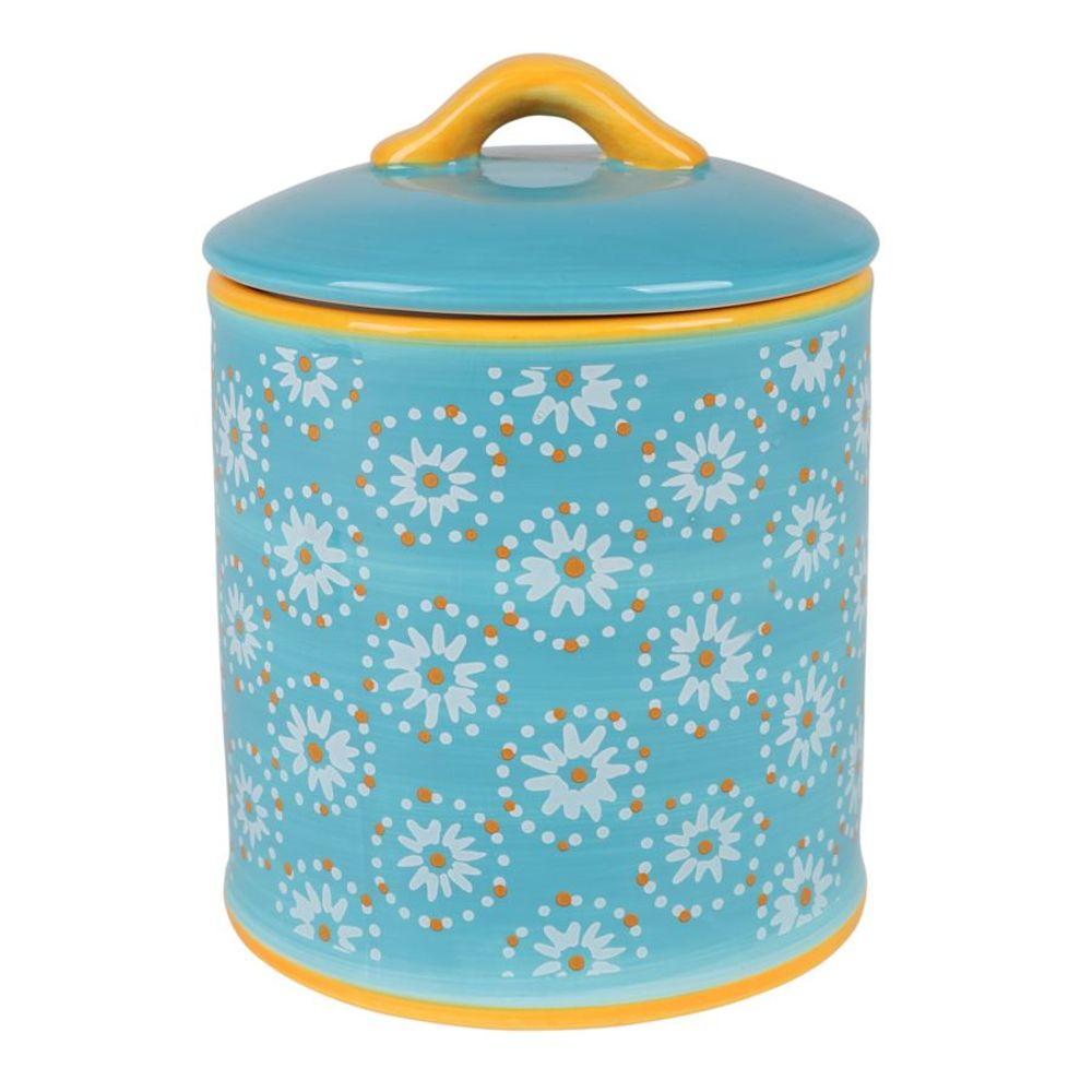 Keramik Keksdose Gebäckdose Plätzchendose Biscuitdose Vorratsdose Deko 14x18,5cm – Bild 2