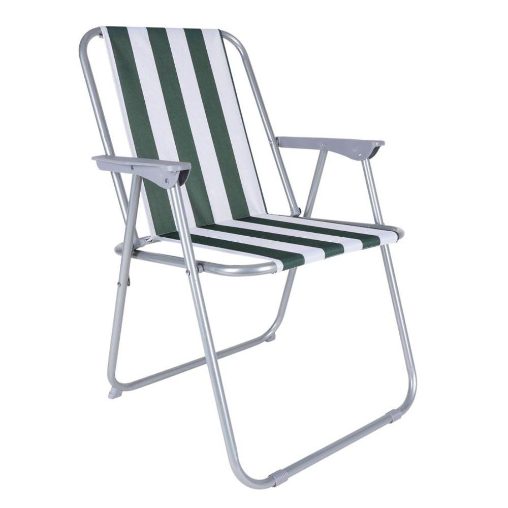 Klappsessel Piccolo grün weiß Klappstuhl Campingstuhl Angelstuhl Gartenstuhl – Bild 1