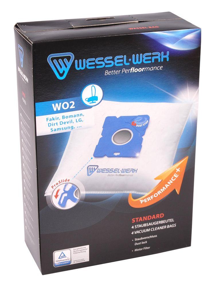 Wessel-Werk WO2 4 Staubsaugerbeutel für Dirt Devil Samsung AEG Grundig Privileg