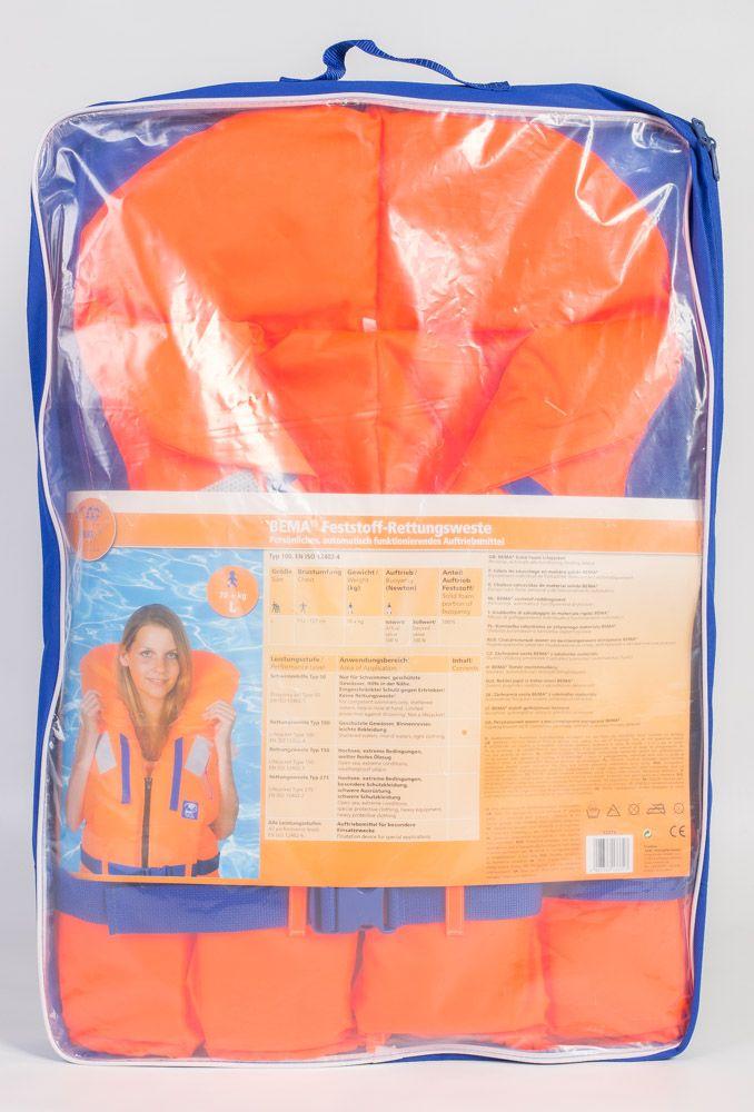 BEMA Rettungsweste XL Typ 100 für Erwachsene70 kg ++ – Bild 2
