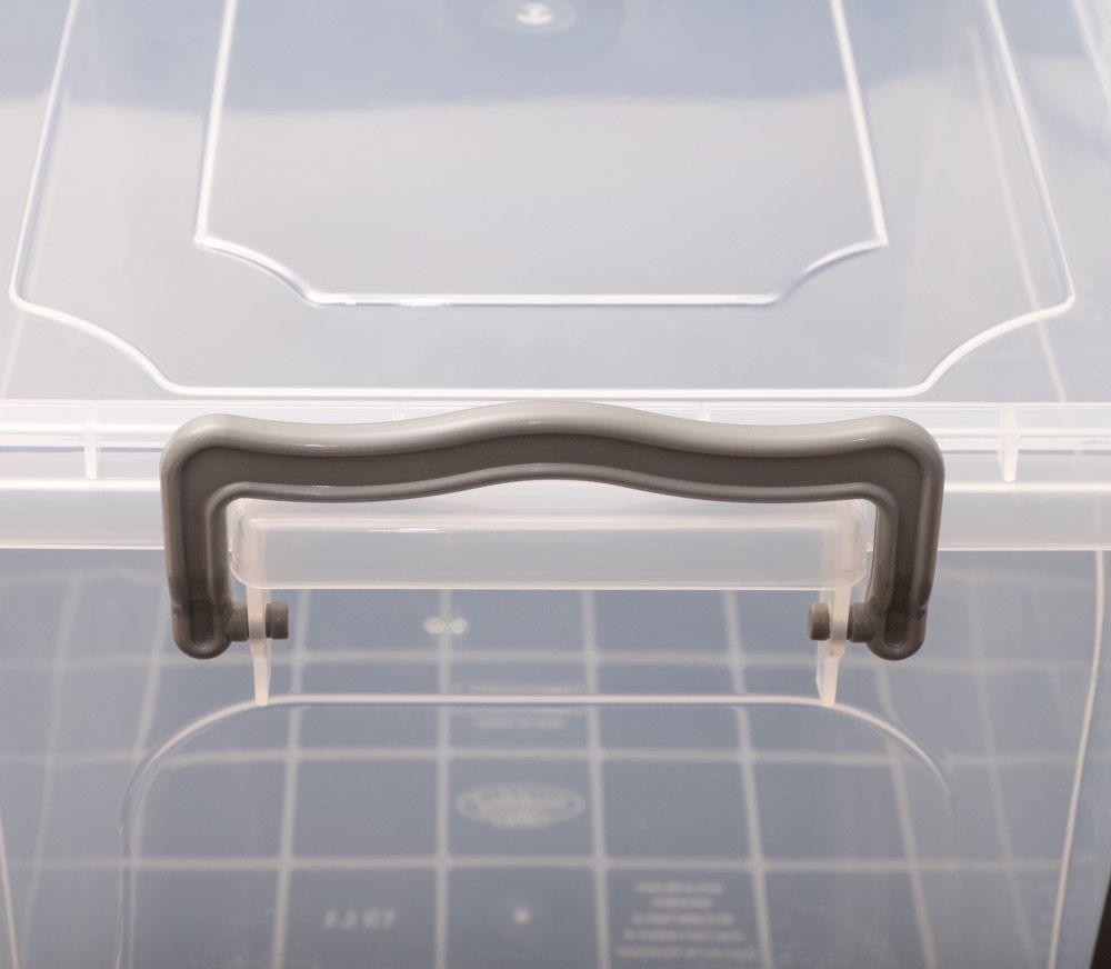 2er transparent Aufbewahrungskiste 13 l Aufbewahrungsbox Stapelbox lebensmittelecht – Bild 1