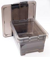 2er anthrazit Set Aufbewahrungskiste 12 Liter Aufbewahrungsbox Stapelbox 001
