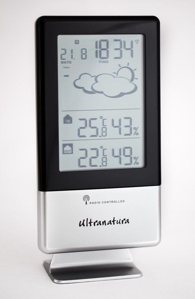 Ultranatura Wetterstation UN 900 Funkuhr und externem Thermo-Hygro Sensor – Bild 1