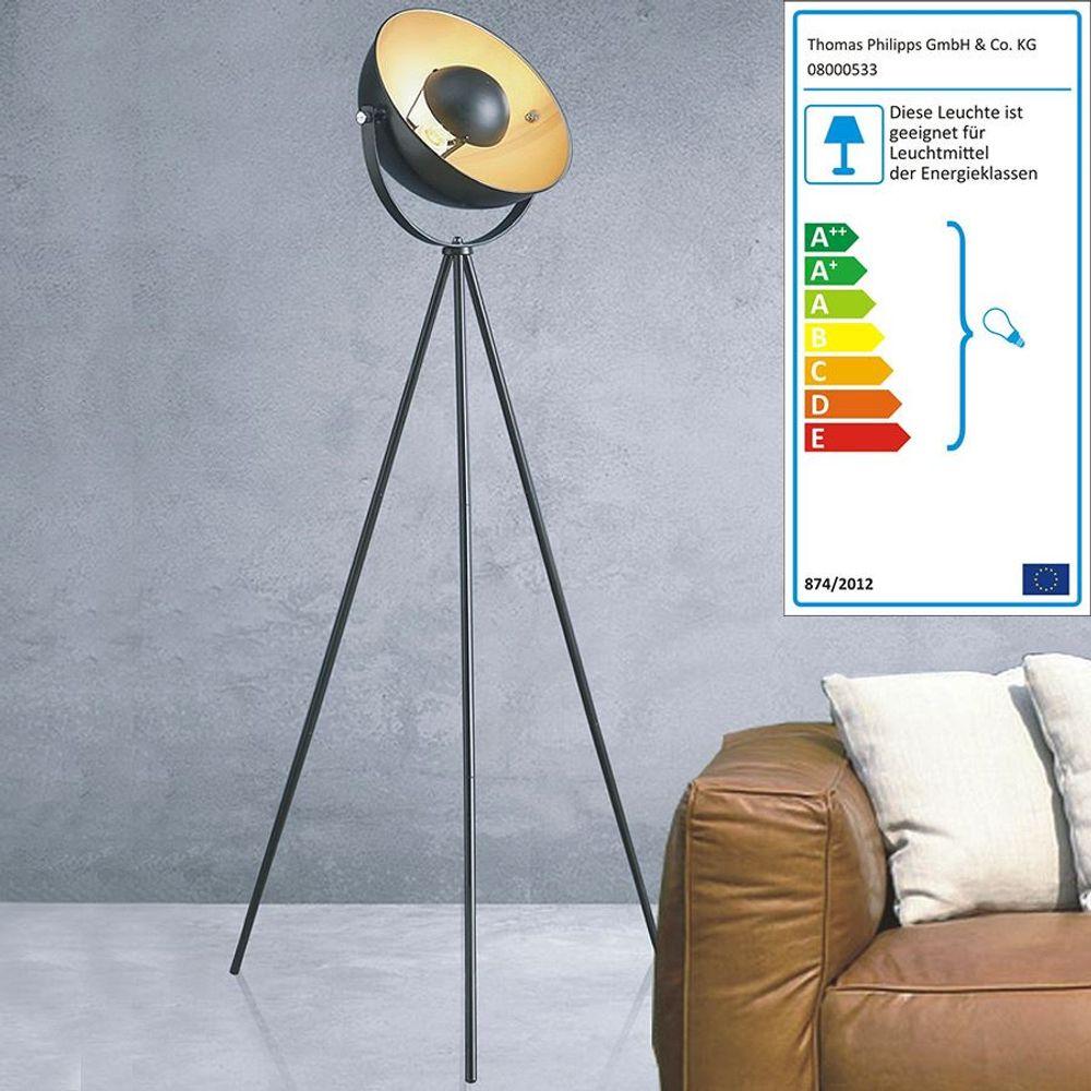 Dreibein Stehlampe Retro Wohnzimmerlampe Bodenleuchte Standleuchte Standlampe – Bild 1