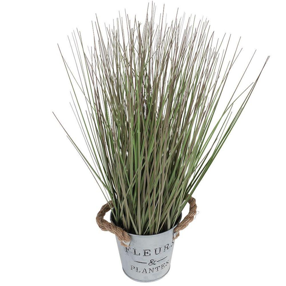 Künstliches Gras 42cm Dekogras Grashalme Kunstpflanze Zimmerpflanze Blumentopf – Bild 2