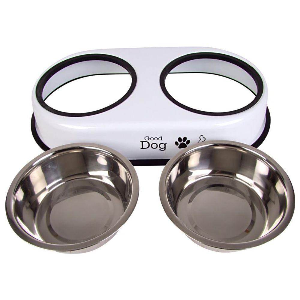 Hundefutterstation 2x 1,5L Fressnapf Futternapf Hundenapf Trinknapf Edelstahl  – Bild 3