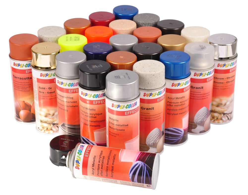 Dupli-Color Effect Farbspray 400ml Klarlack Acryl Granit Chrom Edelstahl Rost – Bild 1