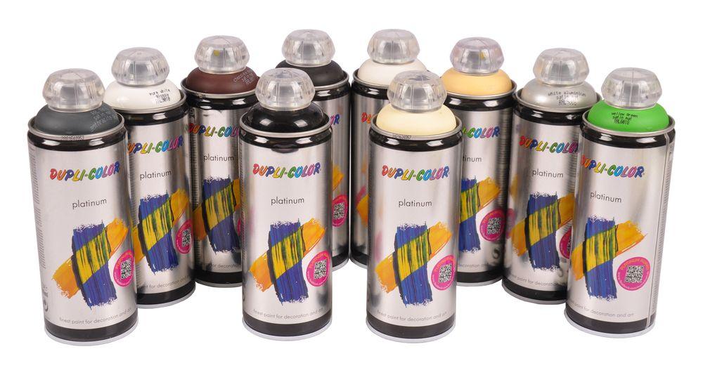 Dupli-Color Platinum Acryl Speziallack 400ml Lackspray matt glänzend Farbspray – Bild 1