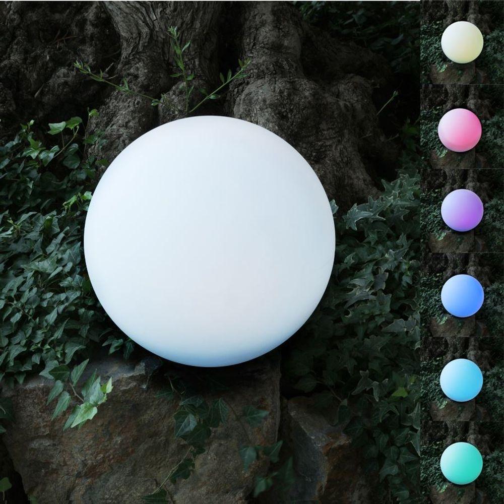 Solar-LED-Gartenleuchte Kugel 30cm Leuchtkugel Gartenlampe Farbwechsler Deko – Bild 1