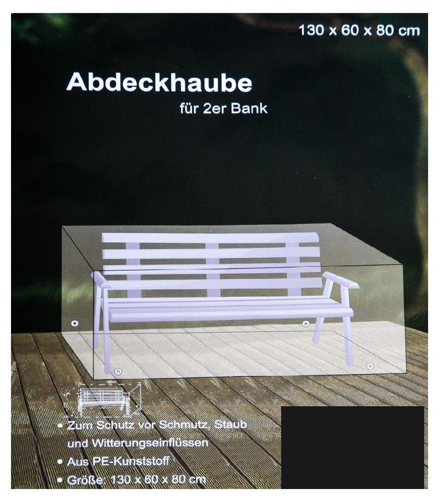 Abdeckhaube anthrazit für 2-Sitzer Bank Möbelabdeckung Schutzhülle 130x60x80cm
