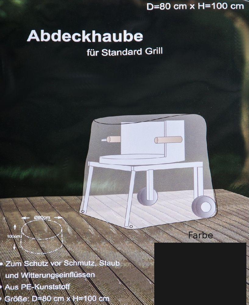 Abdeckhaube anthrazit für Grill Schutzhülle Abdeckplane Schutzhaube 80x100cm