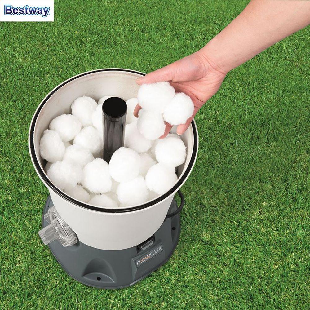 Bestway Polysphere-Filterbälle für Sandfilteranlagen 500g Filterwatte Filtersand – Bild 1
