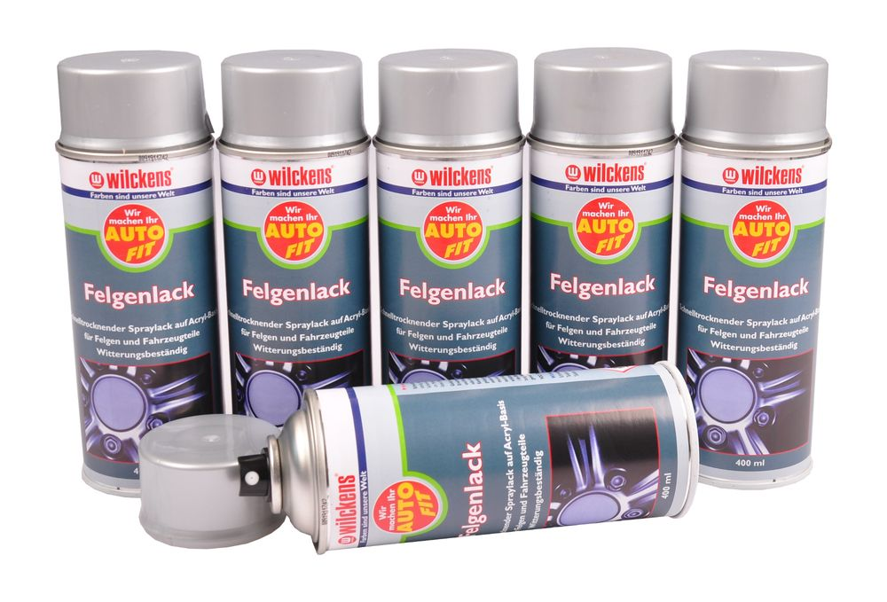 6x Wilckens Auto Fit Spray 400ml Rostschutz Haftgrund Felgen Lack Zink Alu Spray – Bild 5