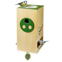 Vogelfutterhaus Nistkasten Vogeltränke Futterstation Wasserstelle Gartendeko  001