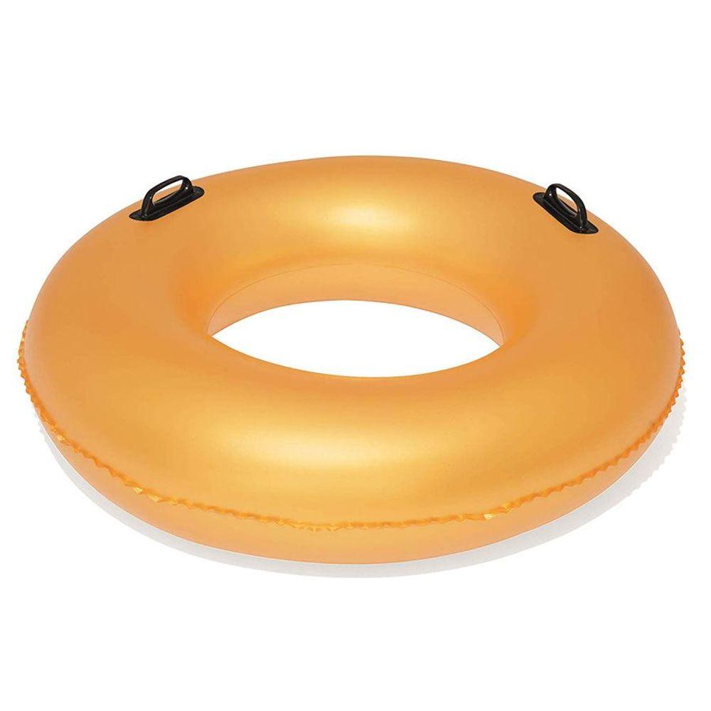 Bestway Schwimmreifen Gold 91cm Schwimmring Schwimmhilfe Badering zwei Griffe – Bild 2