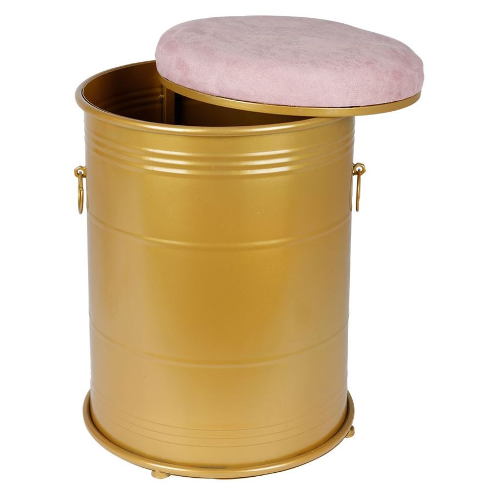 Metall-Sitztonne Sitzhocker Aufbewahrungsbox Polsterhocker Wäschetonne Hocker  – Bild 6