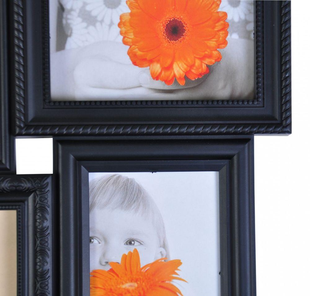 Antike Collage-Bilderrahmen 10er-Set Fotorahmen Multirahmen Fotogalerie schwarz – Bild 3