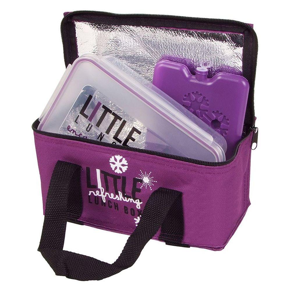 Mini-Kühltasche mit Brotdose und Kühlakku Brottasche Picknicktasche Lunchtasche – Bild 4