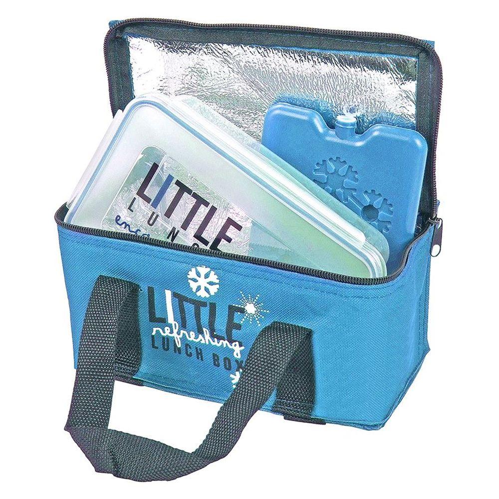 Mini-Kühltasche mit Brotdose und Kühlakku Brottasche Picknicktasche Lunchtasche – Bild 3
