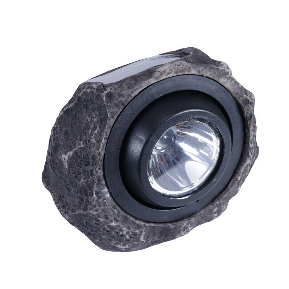 LED Solar Gartenleuchte Granitstein Solarleuchte Leuchtstein Deko warm-/kaltweiß – Bild 1
