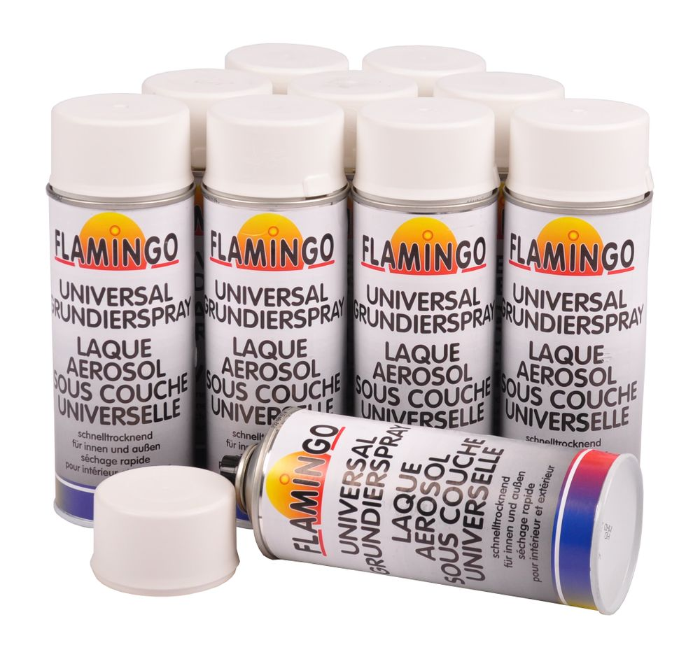 10x Spraydose Grundierung Haftgrund weiß 400ml Rostschutz Grundierspray Primer